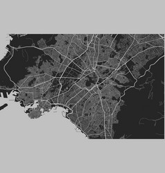 Urban city map athens poster grayscale street vector