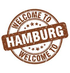 Welcome to hamburg vector