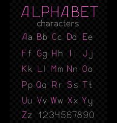 thin alphabet dark transparent background vector image vector image