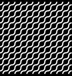abstract seamless pattern with white waves in vector image