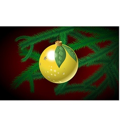 Christmas bauble on the branch vector image