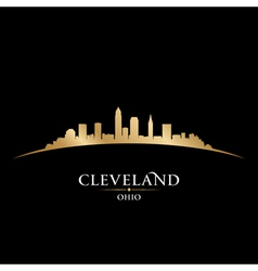 Cleveland Ohio city skyline silhouette vector image