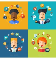 flat design business composition with technical vector image