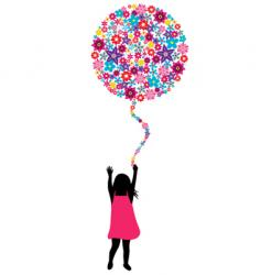 flowers balloon vector image
