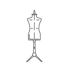 mannequin icon on white background vector image