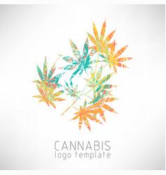 marijuana colorful symbol vector image