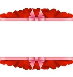 Rose Petals Border on white background Valentines vector image