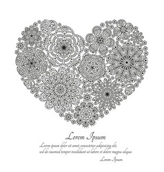 Greeting card or template with stylized flowers vector