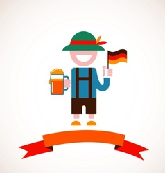 Oktoberfest background - man with beer vector image