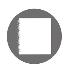 round icon notebook cartoon vector image