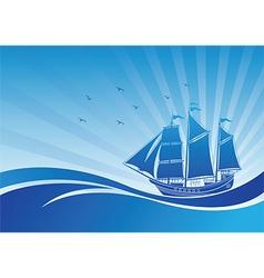 Sail ship background3 vector