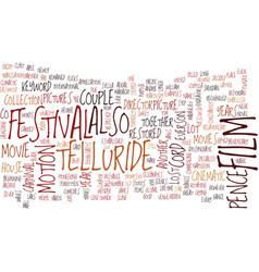 Telluride film festival text background word vector