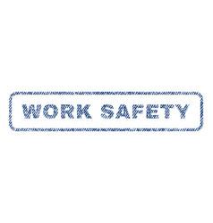 Work safety textile stamp vector
