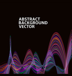 Amazing linear thread abstract black vector