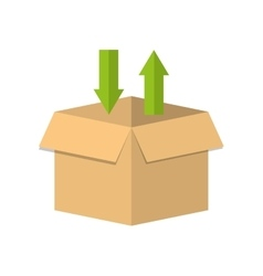 carton box delivery service vector image