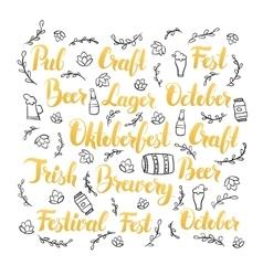 Oktoberfest lettering set vector