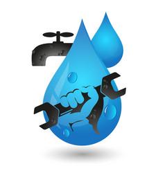 repair plumbing and pipeline design vector image vector image