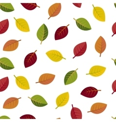 Seamless autumn leaves on a white background vector image vector image