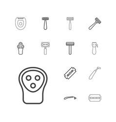 13 razor icons vector