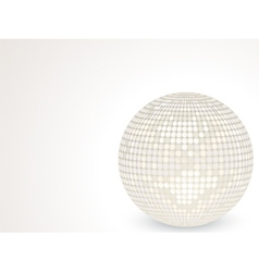 3d white disco ball vector image