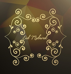 Abstract floral style eid mubarak vector