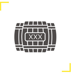 alcohol wooden barrels glyph icon vector image