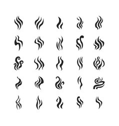 aromas vaporize icons set vector image