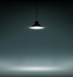 background illuminated lamp vector image