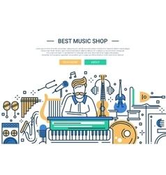 Best Music Shop - website header banner template vector image