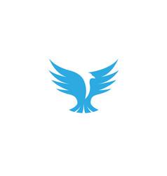 bird eagle open wings flying logo design vector image