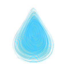 blue abstract water drop vector image