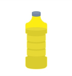 Bottle of oil sunflower on white background vector image