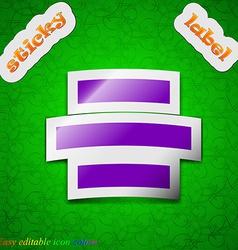 Center alignment icon sign Symbol chic colored vector