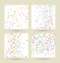 chaotic background with irregular dots vector image