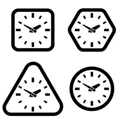 Clock Icon Square Hexagon Triangle and Circle vector