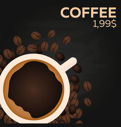 coffee price fast food restauran menu vector image