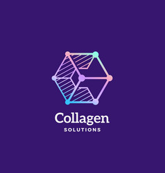Collagen solutions abstract sign emblem vector
