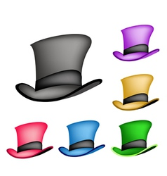 Colorful Victorian Style Top Hat vector