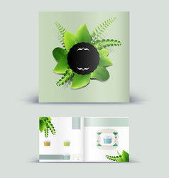 Corporate booklet promotion template with color vector