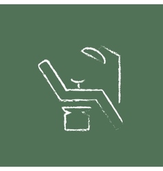 Dental chair icon drawn in chalk vector