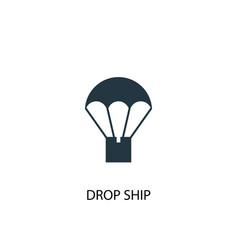 Drop ship icon simple element vector