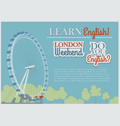 English Flyer Template vector image