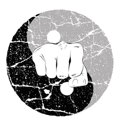 Fist Yin Yang vector image