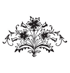 Floral motif is a decorative elements vintage vector