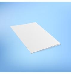 Folder page on color background vector image