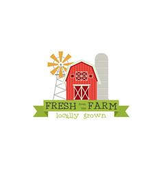 fresh from farm concept logo stock vector image