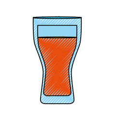 fresh juice glass cup vector image