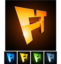 FT vibrant emblems vector