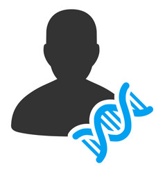Geneticist dna flat icon vector