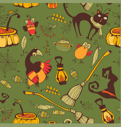 Halloween day thanksgiving harvest vector